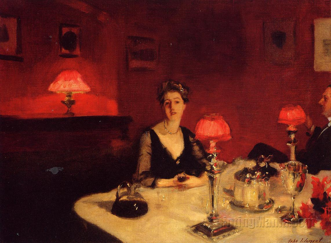 A Dinner Table at Night (Mr. and Mrs. Albert Vickers)