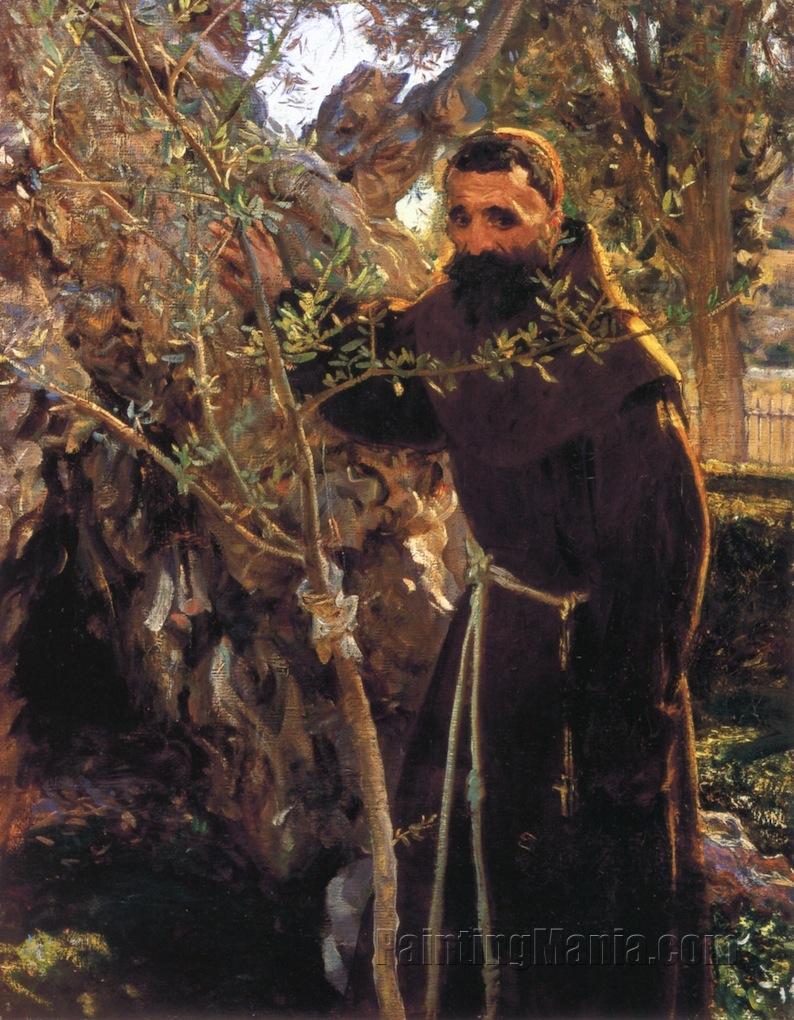 Franciscan Monk in the Garden of Gethsemane (The Garden of ...