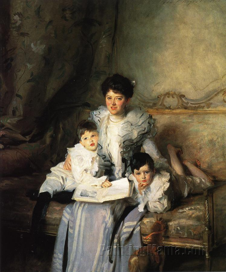 Mrs. Arthur Knowles and her Two Sons