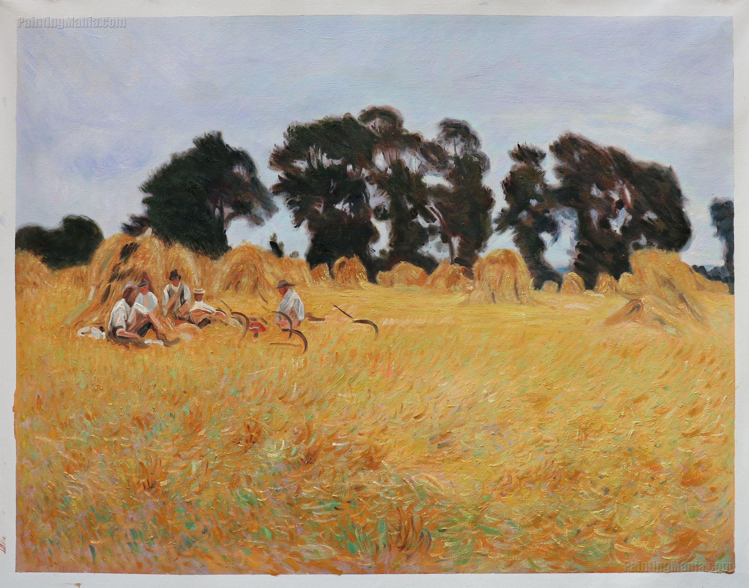 Reapers Resting in a Wheat Field (The Threshers)