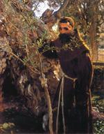 Franciscan Monk in the Garden of Gethsemane (The Garden of Gethsemane)