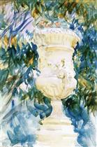 A Garden Vase (Marble Vase in Spanish Garden)