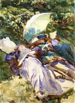 The Green Parasol (Two Women with a Parasol)