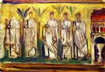 A Group of Five Male Saints