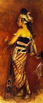 A Javanese Dancing Girl (A Javanese Dancer)