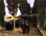Scene with Arab Women (A Shaded Pathway in the Orient)