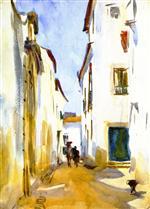 A Street Scene, Spain