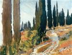 A Winding Road and Cypress Trees, San Vigilio