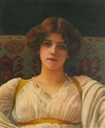 Study of a Head in Drapery, Miss Ethel Warwick
