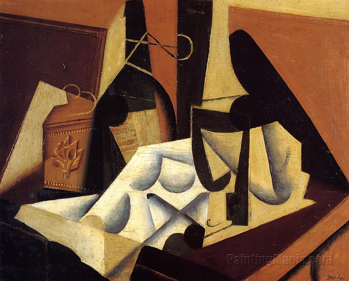Still Life with White Tablecloth