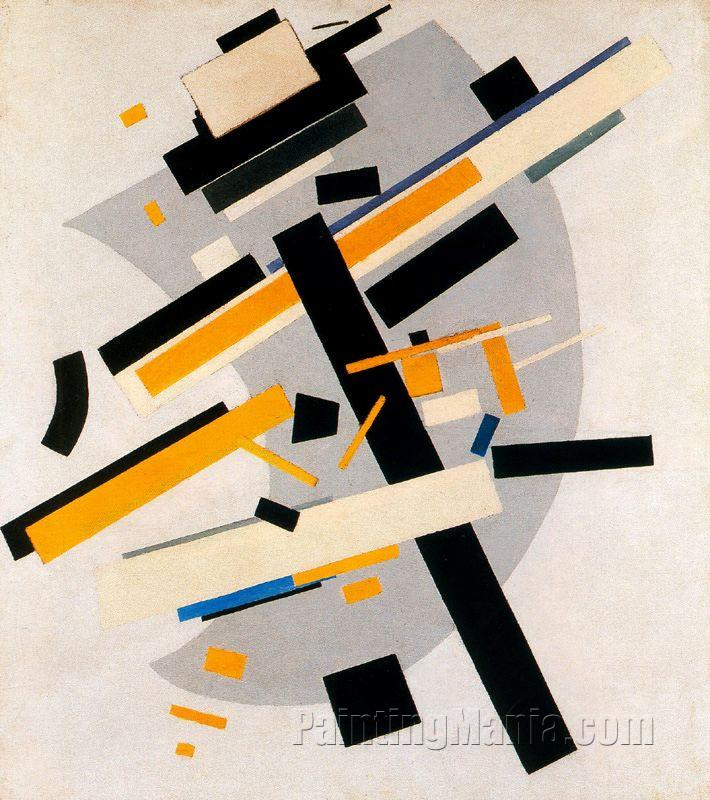 Suprematism (Supremus No.58. Yellow and Black)