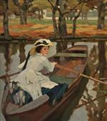 Artist's Wife Frieda Boating