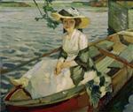 Dame im Kahn (Lady in a Boat)