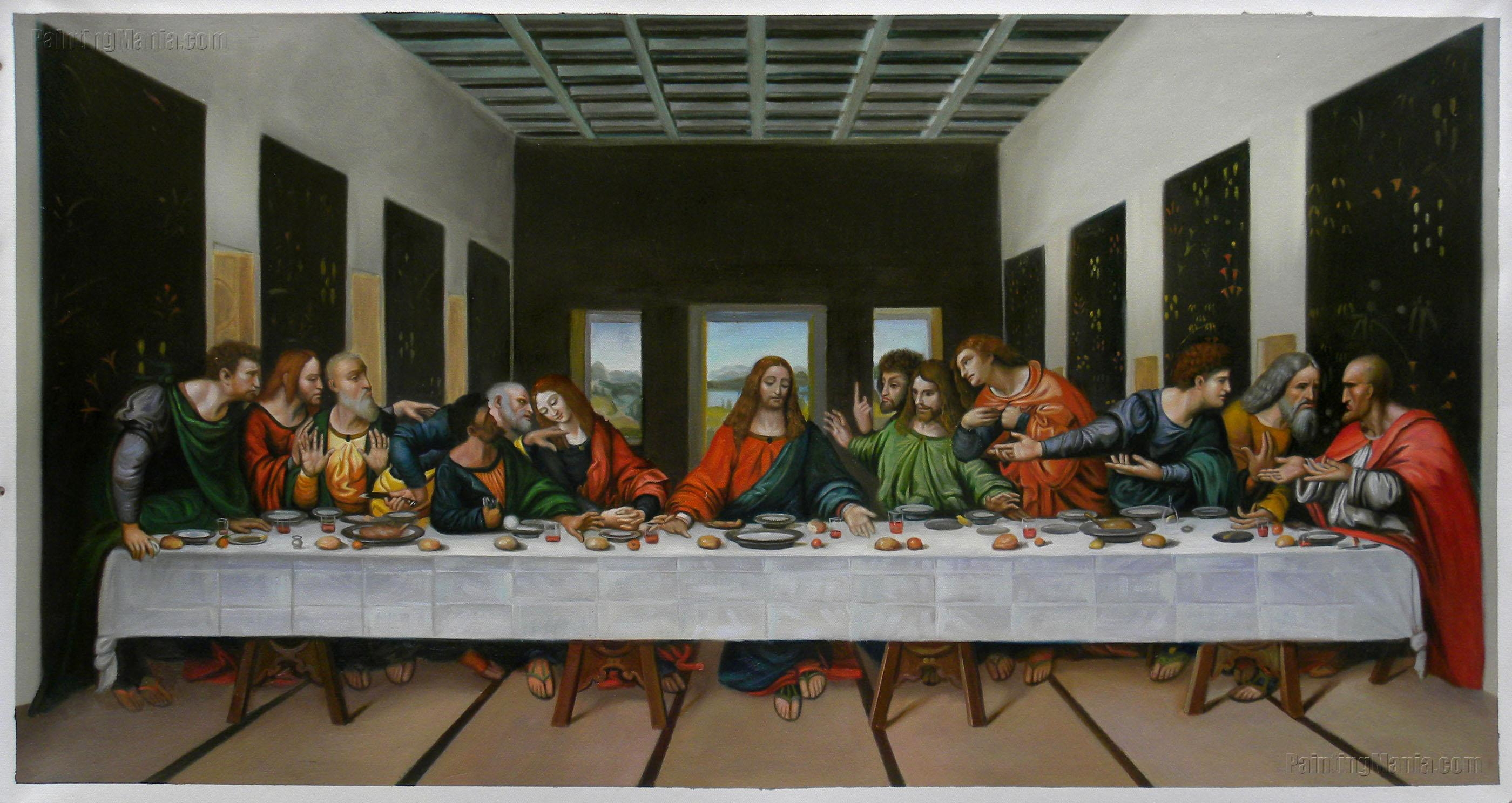 The Last Supper - Leonardo da Vinci Paintings