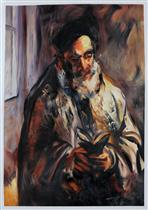 A Jewish Man in His Prayer Shawl