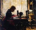 At the Sewing Machine