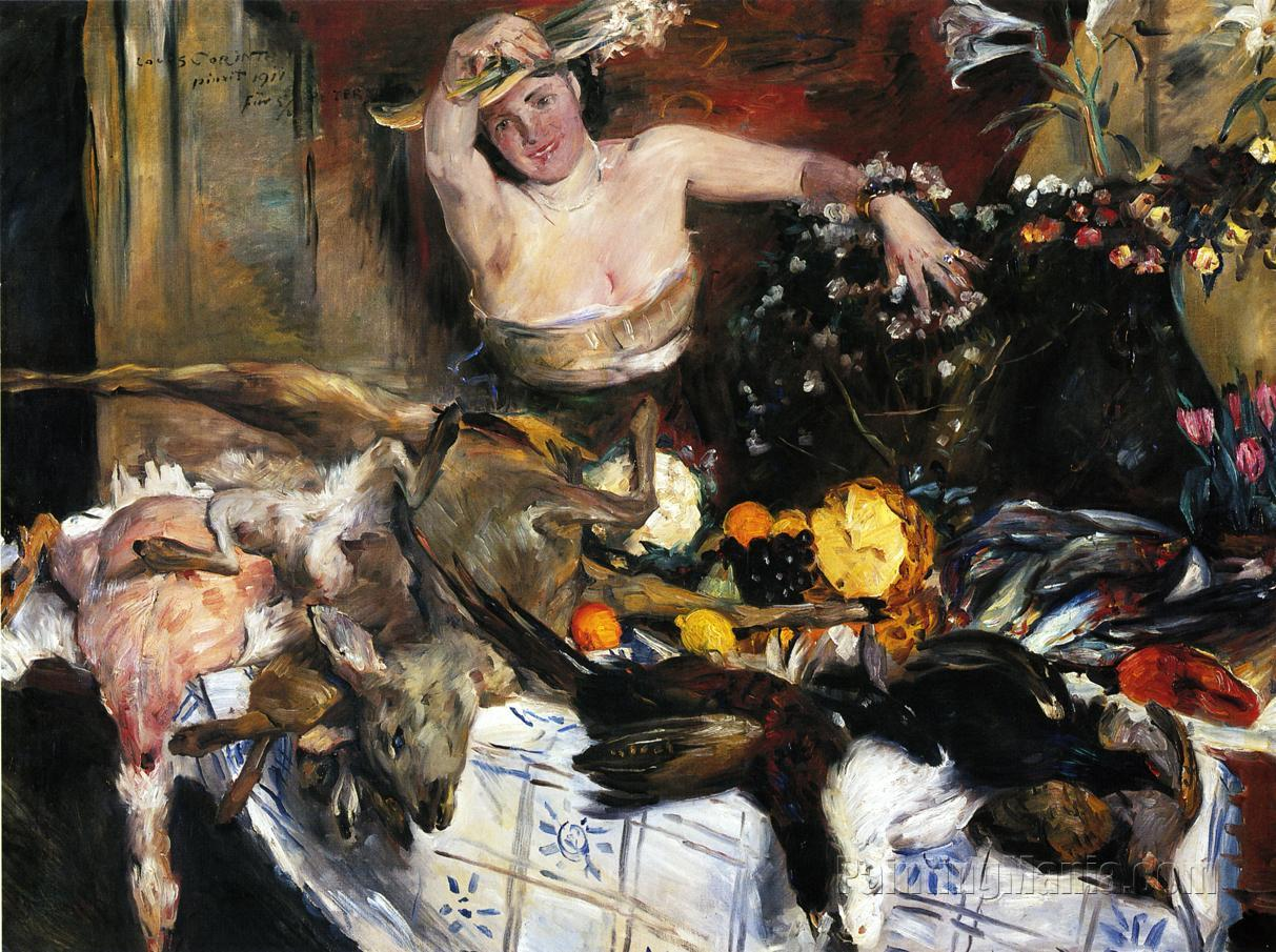 Large Still Life with Figure (Birthday Picture)