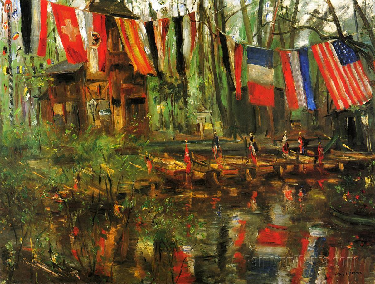 The New Pond in the Tiergarten, Berlin