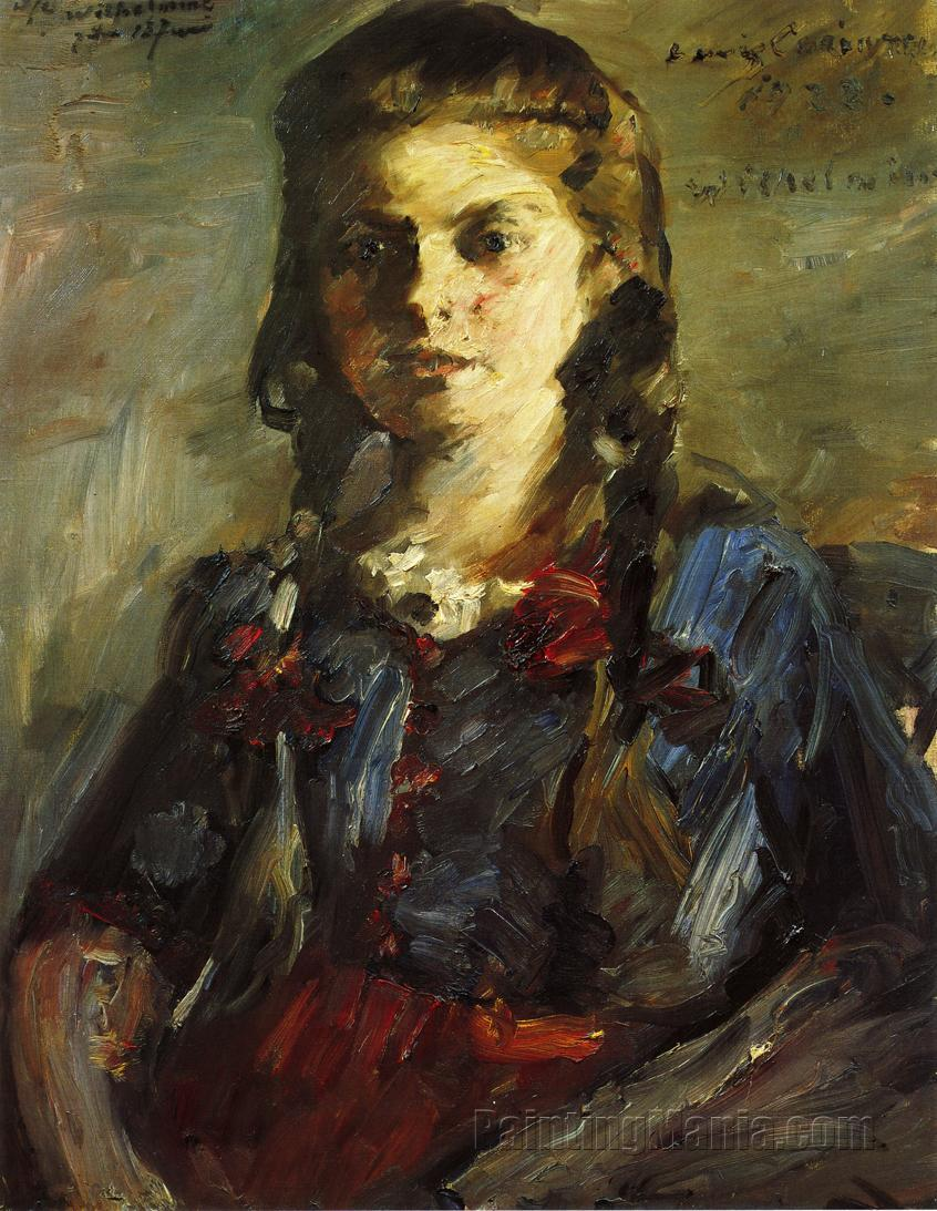 Portrait of Wilhelmine with Her Hair in Braids