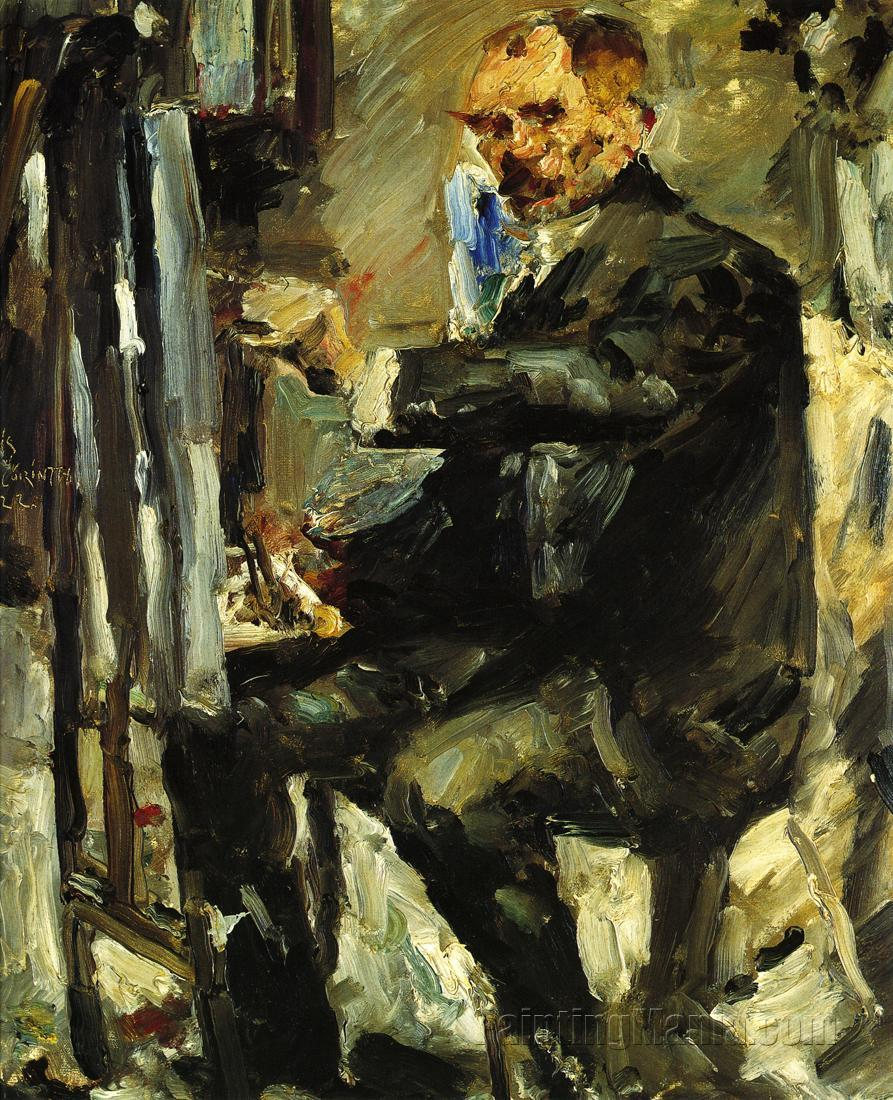 Self Portrait at the Easel