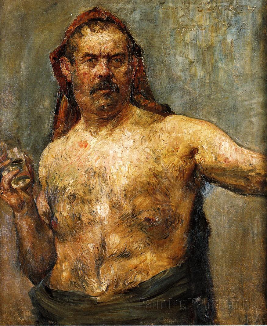 Self Portrait with a Glass