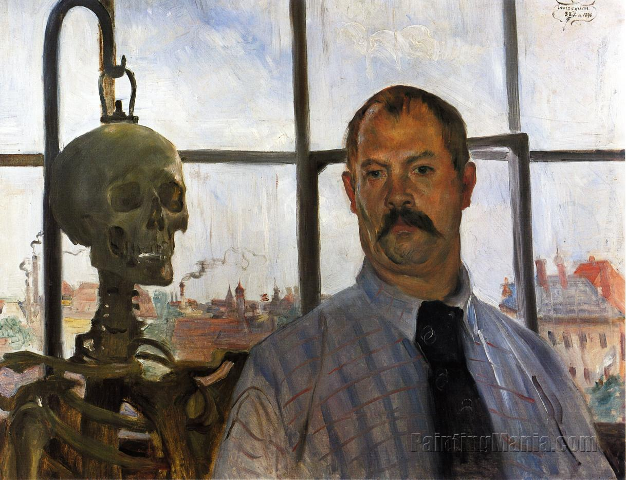 Self Portrait with Skeleton