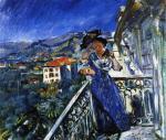 On the Balcony in Bordighera