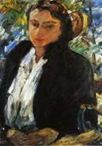 Portrait of Charlotte Berene-Corinth in a Green Velvet Jacket