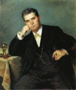 Portrait of Franz Heinrich Corinth with a Glass of Wine