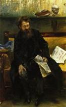 Portrait of the Poet Peter Hille