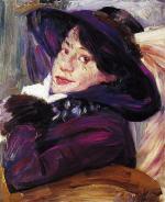 Portrait of a Woman in a Purple Hat