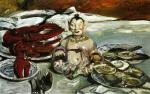 Still Life with Buddha. Lobsters and Oysters