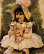 Little Girl with a Japanese Doll