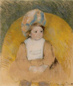 Young Girl Seated in a Yellow Armchair