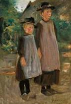 Zwei hollandische Kinder
