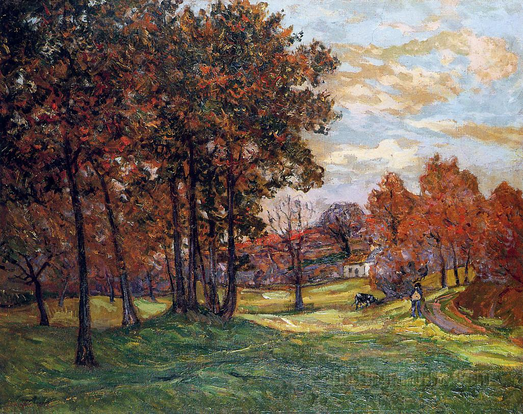 Autumn Landscape at Goulazon, Finistere