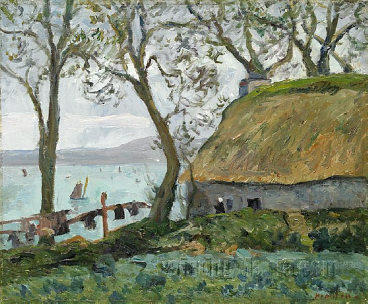 A Cottage with Thatched Roof in Douarnenez