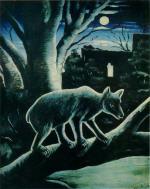 A Fox in a Moon Night