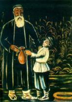 A Peasant with His Grandson