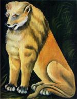 A Sitting Yellow Lion