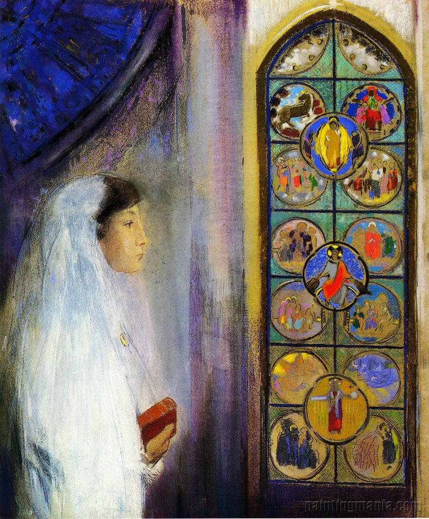 Portrait of Simone Fayet in Holy Communion