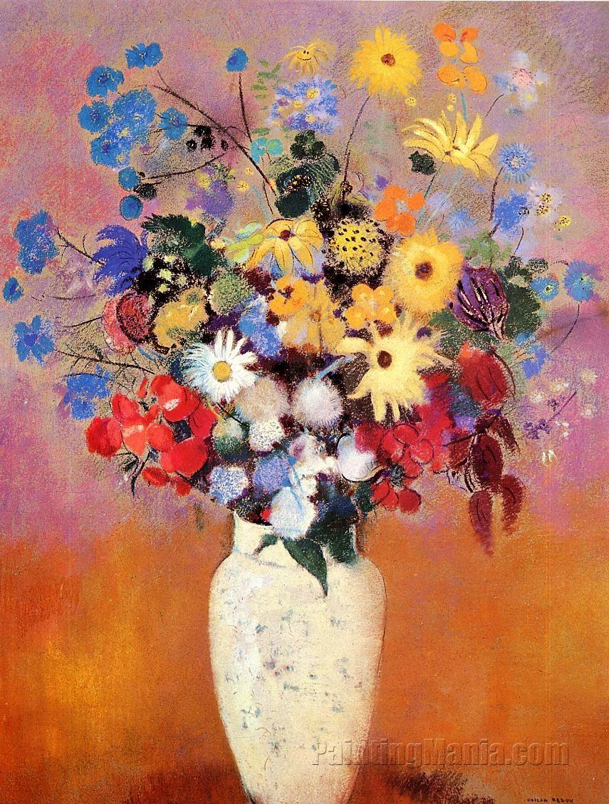 White vase with flowers odilon redon paintings white vase with flowers reviewsmspy