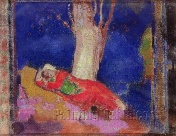 Woman Sleeping under a Tree