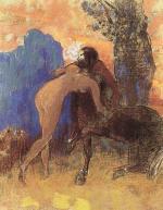 Struggle between Woman and Centaur