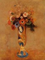 Wildflowers in a Long Necked Vase