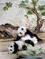 Mommy Panda and Baby Panda