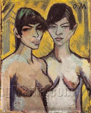 Two Female Nudes (Zwei Weibliche Akte)