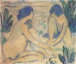 Blue Bathers (Blaue Badende)