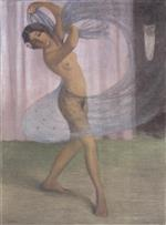 Dancer with Veil, Watched by a Man