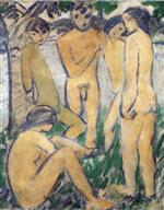 Five Nudes by the Water